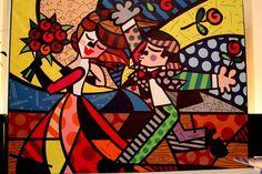 Coupple in Liove by Romero Britto