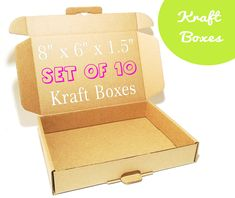 Kraft Box With Lid - Packing Boxes, Cardboard Shipping Boxes, Paper Box, Packaging Supplies, Carton Paper Boxes, Gift Boxes, Medium Boxes by MyPackagingStore on Etsy