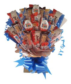 Kinder chocolate is a delicious treat for old and young alike. Our Kinder Bouquet is stuffed with a massive range of 38 Kinder items – it makes the ultimate gift for any occasion.