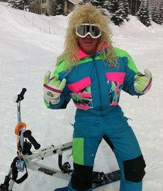 Back to the 80's Ski down. Retro style  #farmrichfamilyfunny