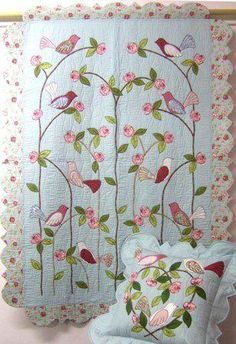 Beautiful quilt and matching pillow