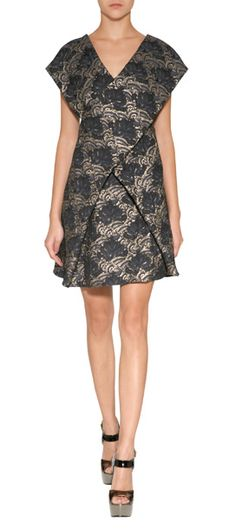 KENZO Metallic Embroidered Dress