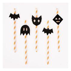 Papieren Rietjes Halloween