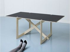 Cool minimal interlocking table from switzerland.