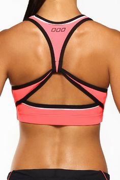 Lorna Jane Brooke Sports Bra - Neon Coral