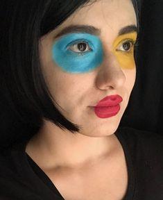 Primary Color face paint / Avant garde look by Genesis