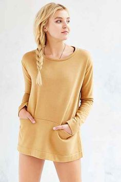 BDG Amber Tunic Sweatshirt - Urban Outfitters