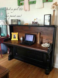 Piano turned desk