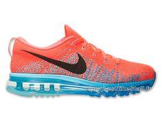 official photos ef4cf bb9fc Boutique Officielle Nike Flyknit Air Max Chaussures Pour Homme Orange -  Bleu - Noir l620469-