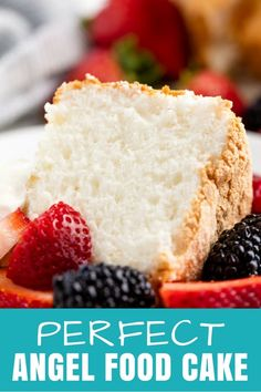Angel food cake is light and airy and deliciously sweet The perfect angel food cake recipe is also easier to make than you might think for the perfect sponge cake every time Source link Angel Cake Food PERFECT Brownie Desserts, Oreo Dessert, Köstliche Desserts, Dessert Recipes, Dessert Food, Angel Cake, Types Of Sponge Cake, Angle Food Cake Recipes, Cake Ingredients