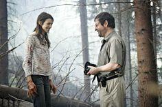 Charlotte Gainsbourg and Lars Von Trier in Anticrist