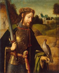 St. Bavo with falcon and sword, late 15th century, Geertgen Tot Sint Jans