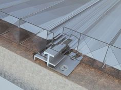 Polycarbonate connecting panel detail by Multiwall Polycarbonate System