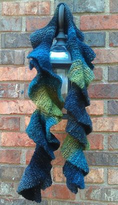 Free Knitting Pattern for Easy Potato Chip Scarf - Barbara Aguiar's easy scarf is knit with short rows in a 4 row repeat. Pictured project by SheepTricks. Great with multi-color yarn.