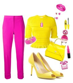 Summer outfit by Diva of Cake featuring polyvore fashion style 3.1 Phillip Lim Narciso Rodriguez Jimmy Choo Dolce&Gabbana Chanel Kate Spade Sugarpill Maybelline MAC Cosmetics Versace Marc Jacobs clothing
