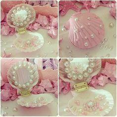 sea shell compact mirror <3