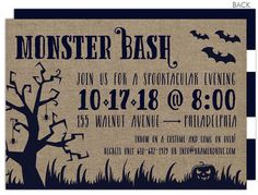Canvas Scene Halloween Invitations