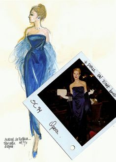 Costume sketch by Ann Roth