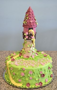 Tangled Princess Birthday Cake