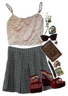 """Did You Ever Respect Me? No."" by teenscream ❤ liked on Polyvore featuring Retrò, vintage and grunge"