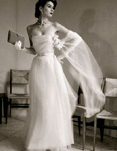 Vintage Dior...@Katie Schmeltzer Schmeltzer You would look fabulous in this.may not be your style but saw and thought of you
