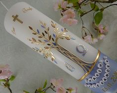 Baptism Candle Tree of Life - christening - baptism - baptism candles - personalised candles - Christening gifts