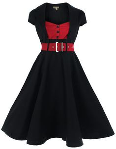 NEW LINDY BOP CLASSY VINTAGE 1950's ROCKABILLY PINUP FLARED SWING EVENING DRESS | eBay