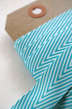 Turquoise chevron ribbon.