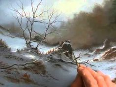 SNOWY LANE an Oil Painting Demonstration by Alan Kingwell