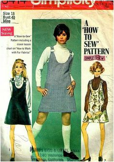 mid 1960's fashion - I had a jumper like this, loved it.