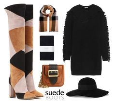 """""""Suede + Patchwork + Fringe"""" by leiastyle ❤ liked on Polyvore featuring Gianvito Rossi, Kenzo, Toast, Burberry and Eugenia Kim"""