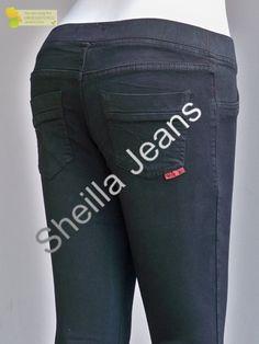 Harga celana jeans pensil soft jeans hitam