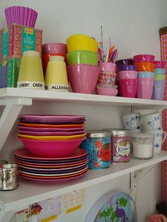 i want shelves full of color!
