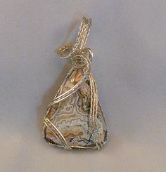 PENDANT Mexican crazy lace agate wrapped in by CHERYLMARIESDESIGNS, $59.00