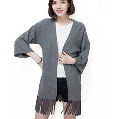$29.99 Knitted Cardigan Sweaters Open Front with Tassels