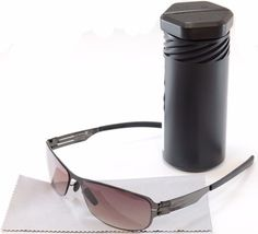 16a4b25c97 Berlin Sunglasses Shi Gunmetal Stainless Steel Germany 100% UV 57-16-