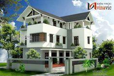 Mẫu thiết kế nhà biệt thự đẹp 3 tầng BT1435