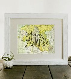 Adventure Awaits Map Print by Pixels & Wood on Scoutmob Shoppe