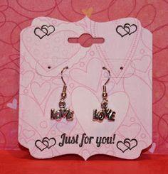 Earring cards with custom earrings.  :)