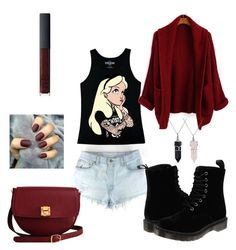 """Untitled #3"" by anastasiadobre97 on Polyvore featuring Disney, Dr. Martens, The Code, Bling Jewelry and NARS Cosmetics"