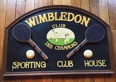 Tennis art Tennis wall decor Tennis sign Tennis signboard Sport gift Wimbledon Tennis Club Pub decor Bar Decor Sports room Tennis racket Pub Decor, Wall Decor, Wimbledon Tennis Club, Sports Room Decor, Tennis Clubs, Tennis Racket, Garage Loft, Tennis Gifts, British Pub