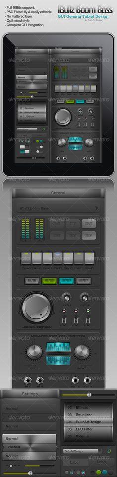 iBullz Boom Bass UI Interface #Design - #User #Interfaces Web Elements Download here: https://graphicriver.net/item/ibullz-boom-bass-ui-interface-design/103302?ref=alena994