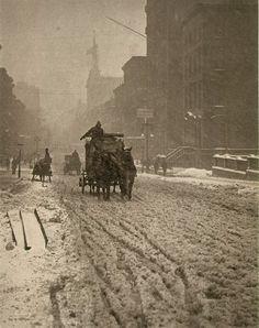 Alfred Stieglitz, Photographer  Winter on Fifth Avenue, New York  1893