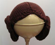 Princess Leia knit hat pattern