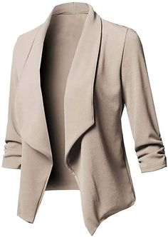 Clothing Staples, Elegantes Outfit, Leather Blazer, Suede Leather, Casual Blazer, Blazer Fashion, Jackets For Women, Shop Jackets, Long Sleeve