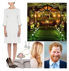 """Being surprised with a romantic garden dinner"" by duchess-rebecca ❤ liked on Polyvore featuring L.K.Bennett, Gianvito Rossi, Tressa, Bulgari and Diana M. Jewels"