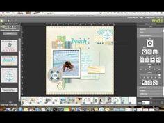 My Digital Studio - Sketch Kimberly Van Diepen, Stampin' Up! Digital Scrapbooking