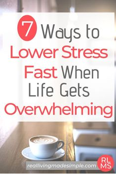 When life gets busy or overwhelming, it's easy to get stressed out. But lowering your stress doesn't have to be a mystery. Find 7 tips to lower stress here! Feeling Stressed, Stressed Out, How Are You Feeling, How To Lower Stress, How To Relieve Stress, Focus Your Mind, Train Your Mind, Anti Stress, Stress And Anxiety