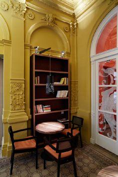 Haštalka Bookcase, Corner, Shelves, Building, Home Decor, Shelving, Decoration Home, Room Decor, Buildings
