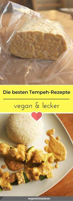 Die besten Tempeh-Rezepte findet ihr bei mir. Alles #vegan und vieles #glutenfrei. Tempeh Recipes Vegan, Veggie Recipes, Lunch Recipes, Vegan Vegetarian, Vegetarian Recipes, Healthy Recipes, How To Become Vegan, Vegetarian Lifestyle, Vegan Dishes